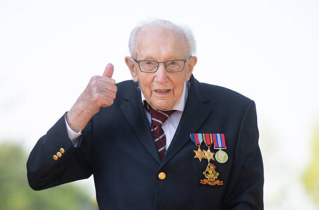 Captain Sir Tom Moore raised £32.8m for the NHS. Credit: PA