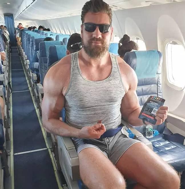 Olivier Richters on a plane. Credit: Instagram