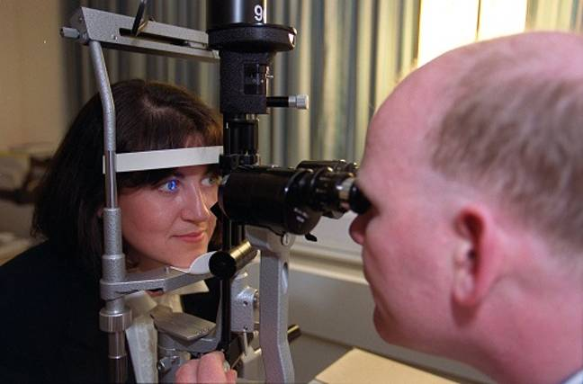 A patient has their eyes tested at Moorfields Eye Hospital. Credit: PA