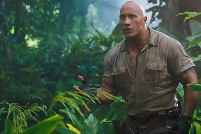The Rock in 'Jumanji: Welcome to the Jungle'. Credit: Sony Pictures