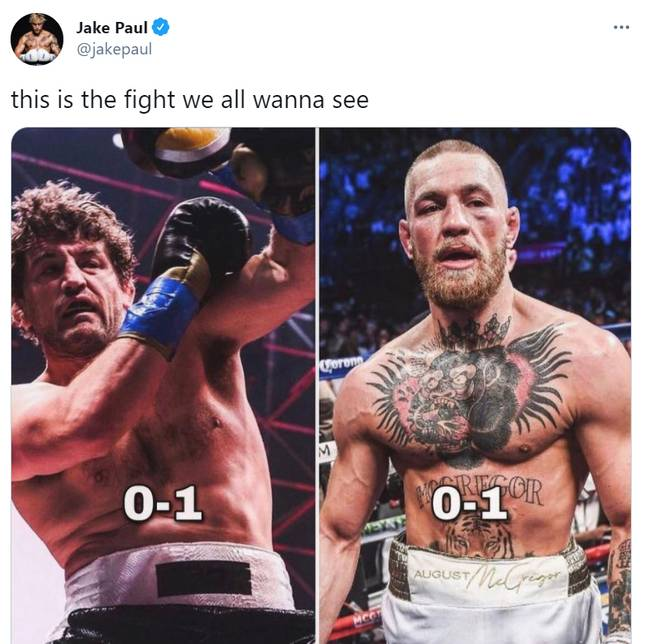 Paul mocked the pair on his Twitter account. Credit: Jake Paul/Twitter