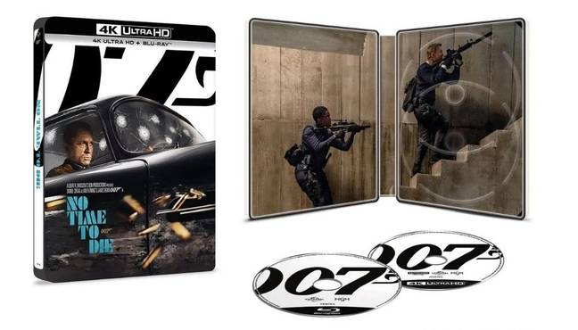 No Time To Die limited edition Ultra 4K & Blu Ray steelbook. (Credit: Zavvi)
