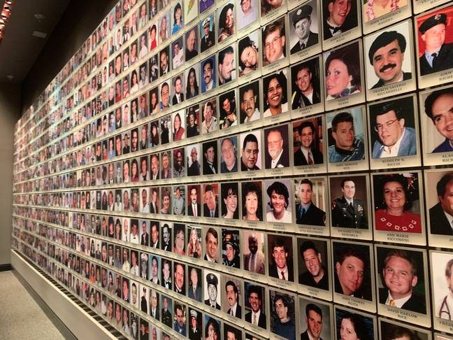 Photos of the victims of the 9/11 attacks are on display in the Ground Zero Memorial Museum in New York. (Credit: PA)