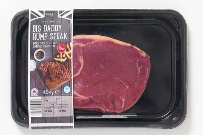 The Aldi Big Daddy rump steak is a big old bit of meat. Credit: Aldi