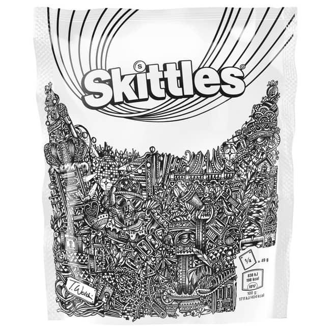 Thomas Wolski's design of the Skittles packaging. Credit: Straight Forward/Thomas Wolski