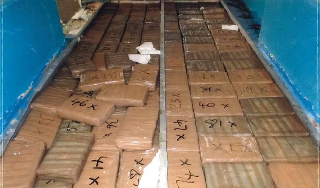 The cocaine was concealed in frozen fish. Credit: National Crime Agency