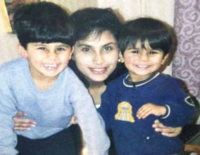 Jhai and Simmy with their mum Kal. Credit: Jhai Dhillon/Rice n Spice