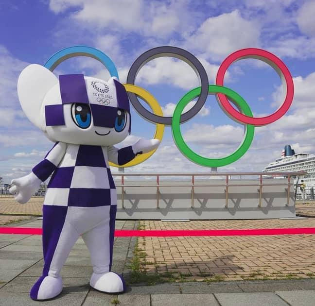 Olympic Rings on display in Yokohama. Credit: Instagram/@Tokyo2020
