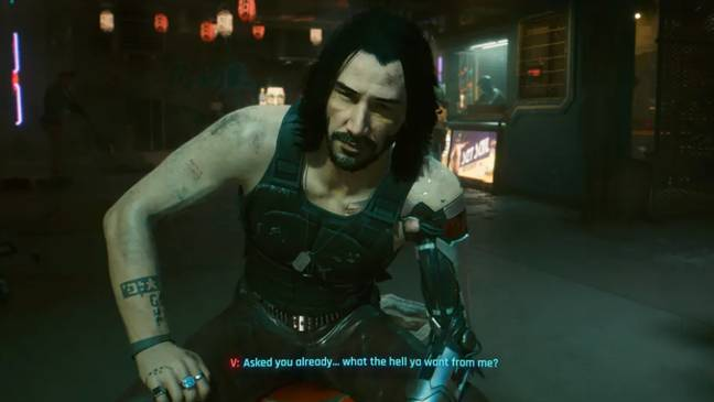 You people really are sick. Credit: Cyberpunk 2077
