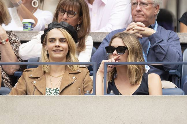 Cara Delevingne (left) and Ashley Benson (right). Credit: PA