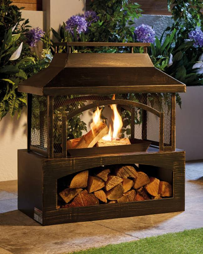 The log burner flew off the shelves last year when it was on sale. Credit: Aldi