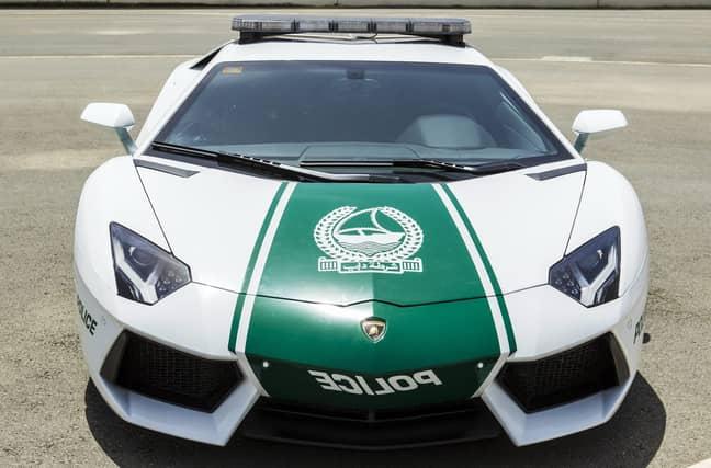 A police car in Dubai. Credit: PA