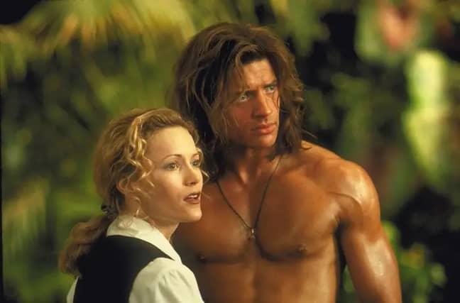 Brendan Fraser and Leslie Mann in George of the Jungle. Credit: Disney