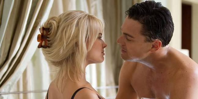 Margot Robbie and Leonardo DiCaprio in The Wolf of Wall Street. Credit: Paramount Pictures
