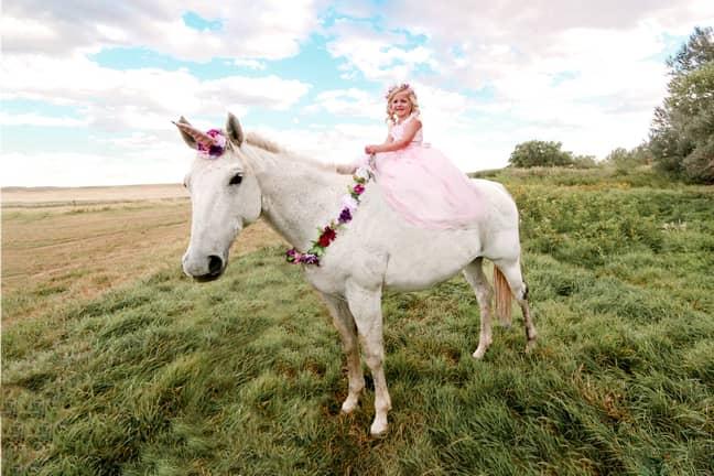 Elijah's sister Emilee had her own unicorn-themed shoot for her birthday. Credit: Rachel Perman Photography