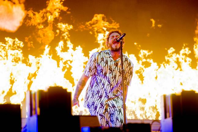 Post Malone performing at Leeds Festival this year. Credit: PA