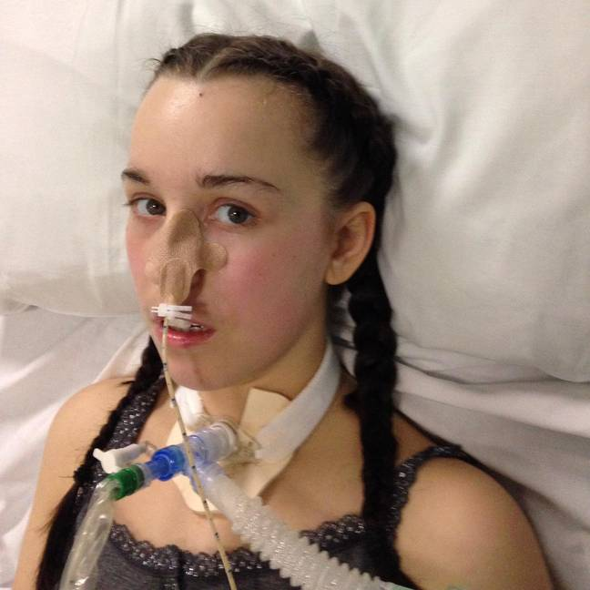 Rachael was placed on a ventilator just three days after symptoms first set in. Credit: SWNS