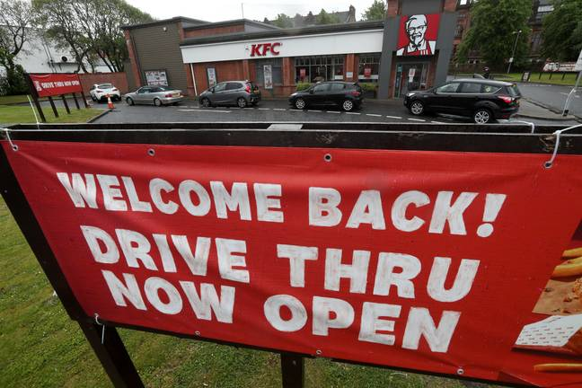 Some drive thru locations are open, too. Credit: PA