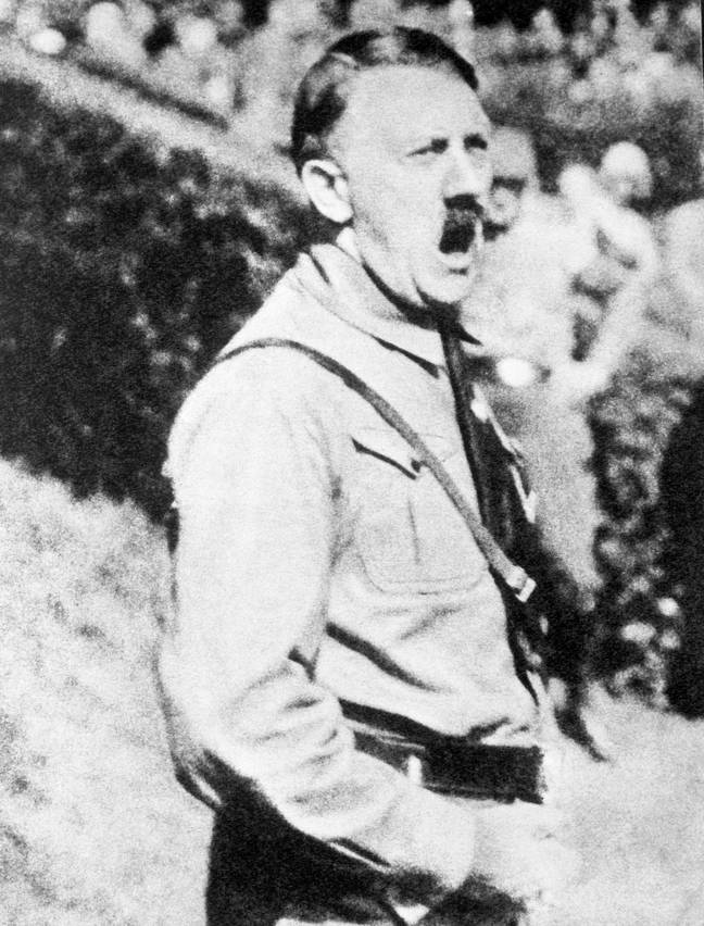 Adolf Hitler speaking at a rally. Credit: PA