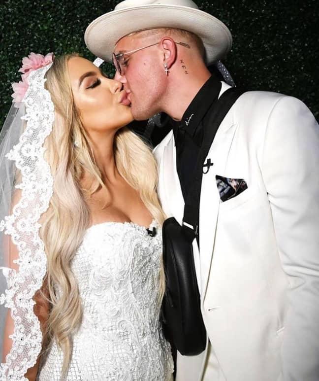 Jake Paul staged a fake wedding to fellow online celebrity Tana Mongeau. Credit: Instagram/Tana Mongeau