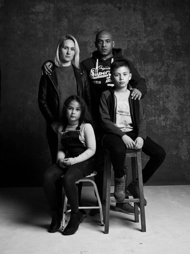 Karim and his family. Credit: Tom Cockram