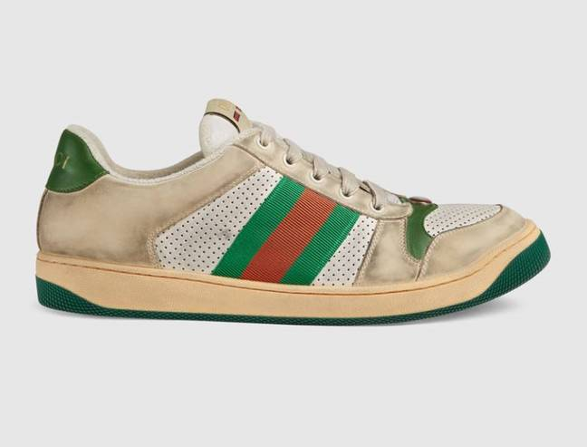 Would you pay over £600 for a pair of grubby-looking sneakers? Credit: Gucci