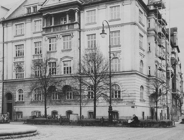The building in Munich that Hitler and Alice lived in. Credit: SWNS
