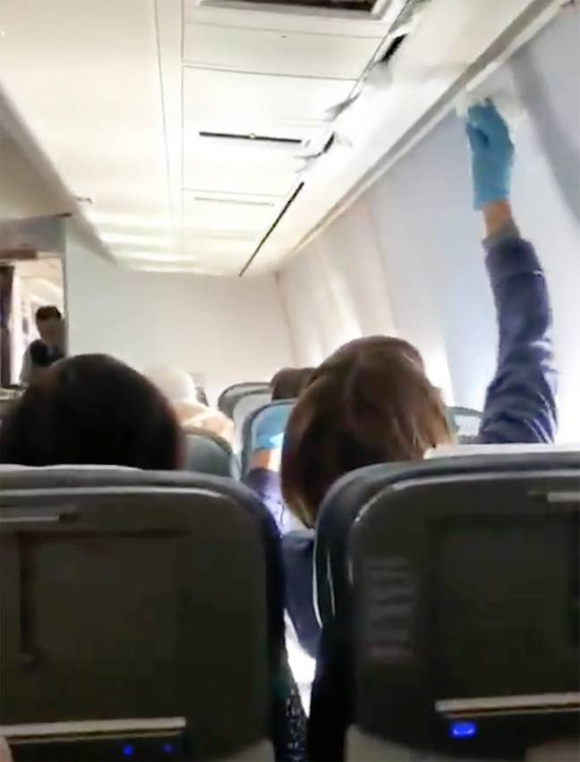 Passengers tried to stop the leaks. Credit: East2West
