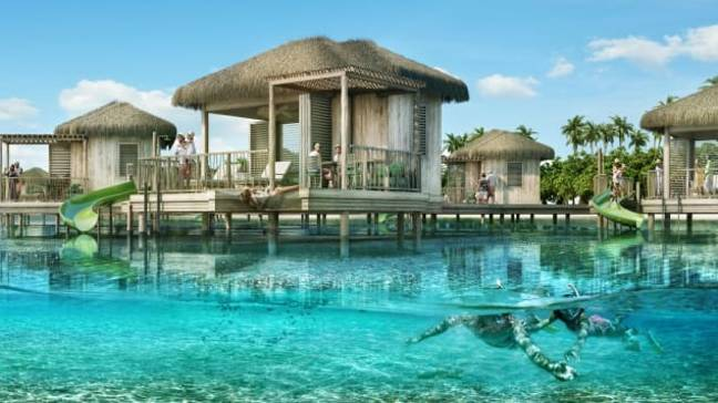 The overwater cabanas will also launch in December. Credit: Royal Caribbean