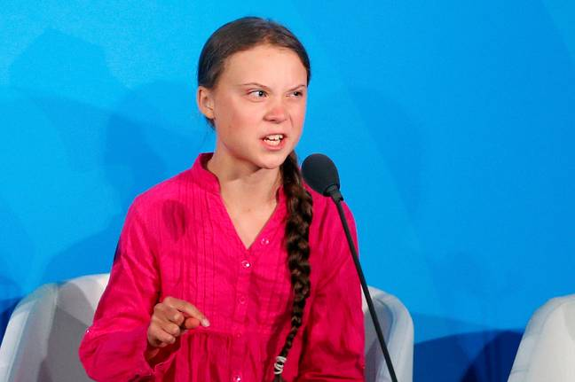 The teen addressed the UN, where she criticised politicians for their lack of action. Credit: PA