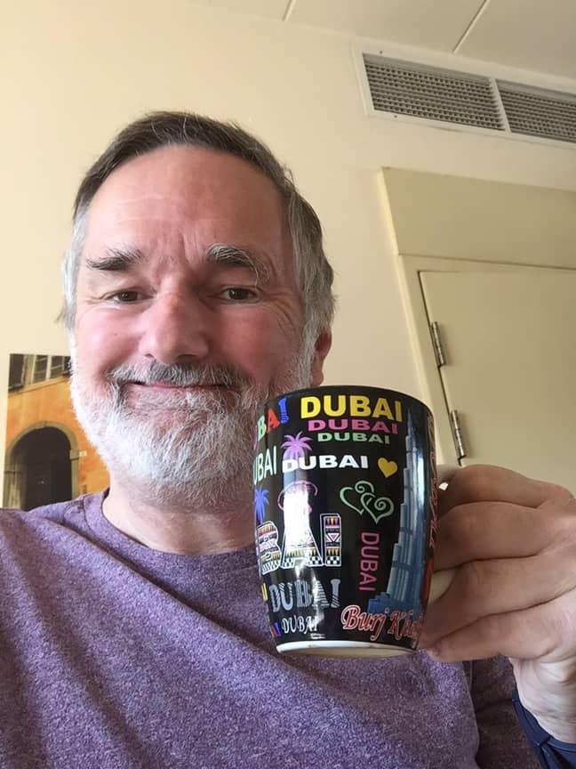 Shaun is an RAF veteran living in Saudi Arabia. Credit: Twitter/Shaun Watchorn