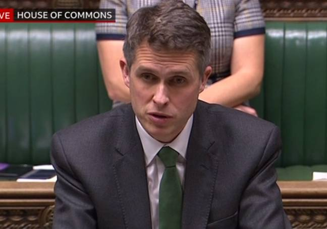 Secretary of State for Education, Gavin Williamson CBE, made the announcement. Credit: BBC