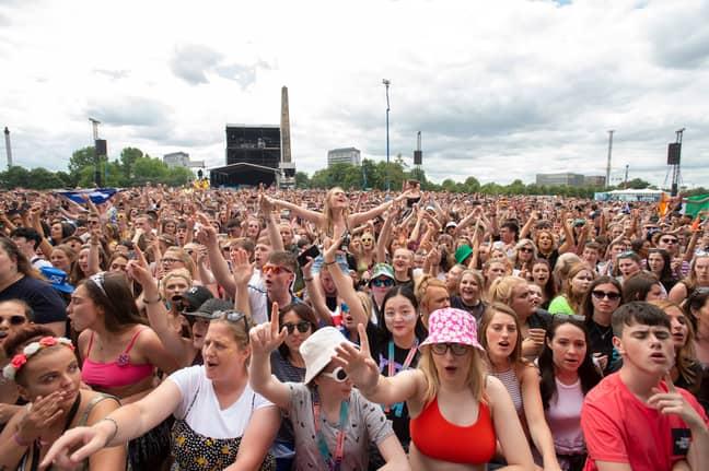 People attend Scottish music festival. Credit: PA