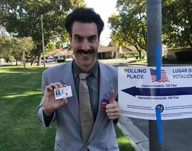'Borat' in 2018. Credit: Instagram/Sacha Baron Cohen