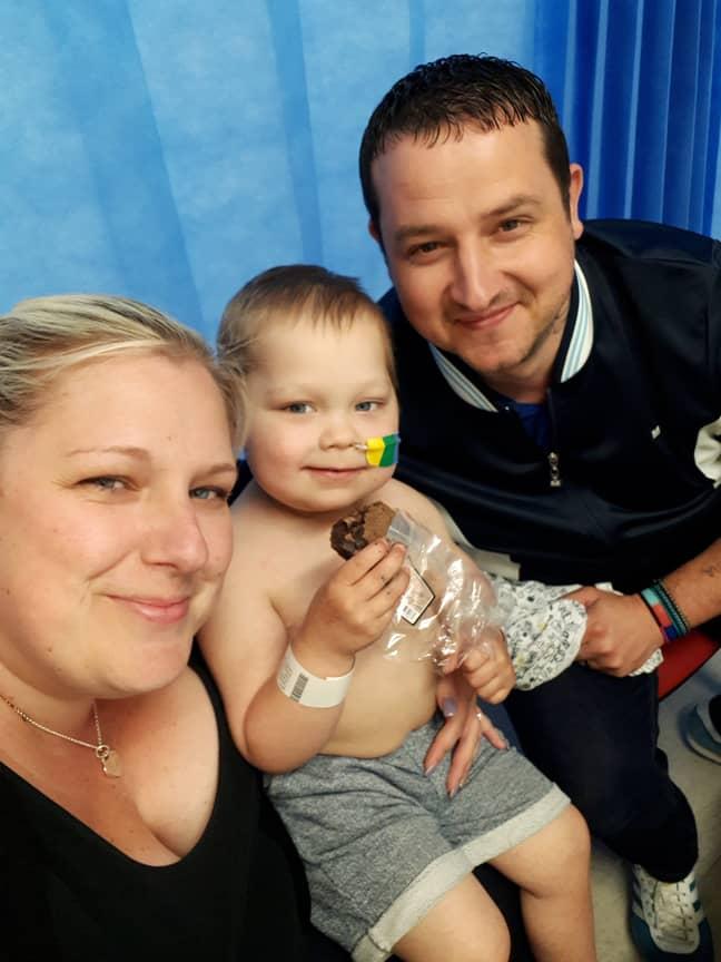 A bone marrow match was found for Josh. Credit: SWNS