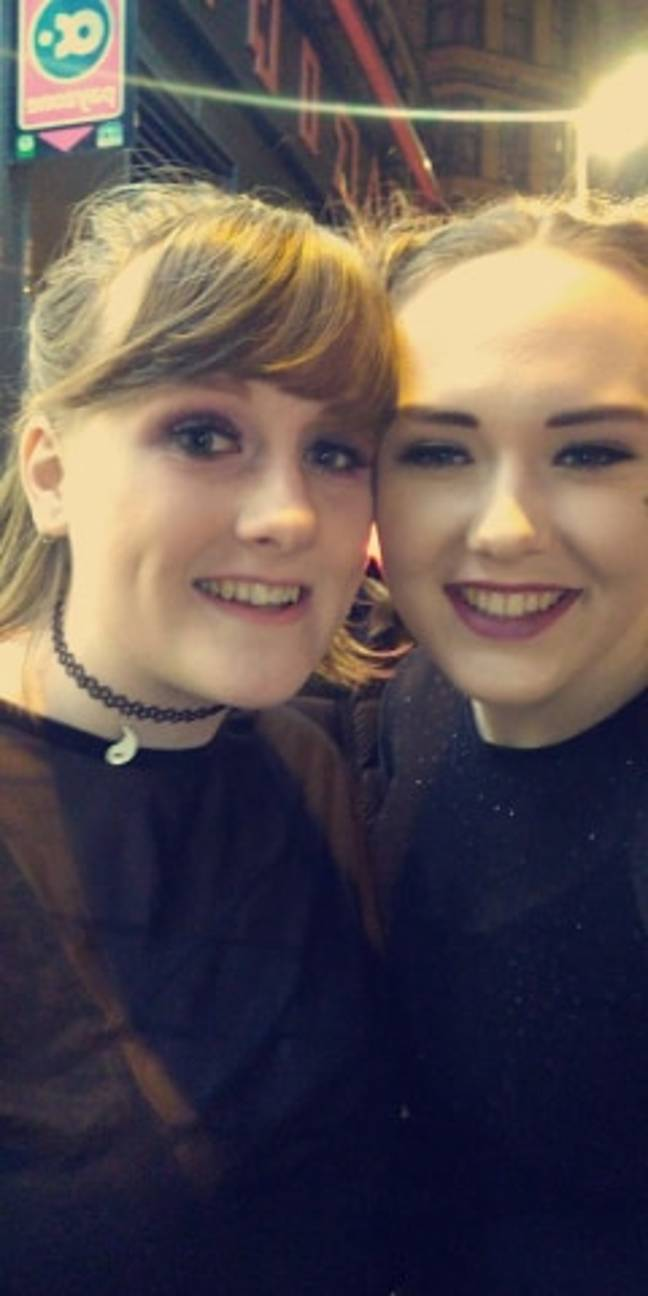 Samantha and her friend from uni Emily. Credit: Samantha Denyer