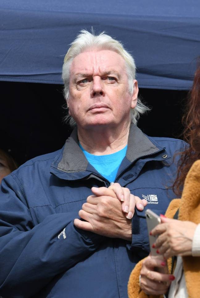 David Icke was also there. Credit: PA