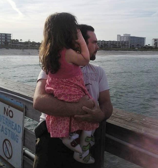 Natalia and her adopted dad, Michael. Credit: Kristine Barnett