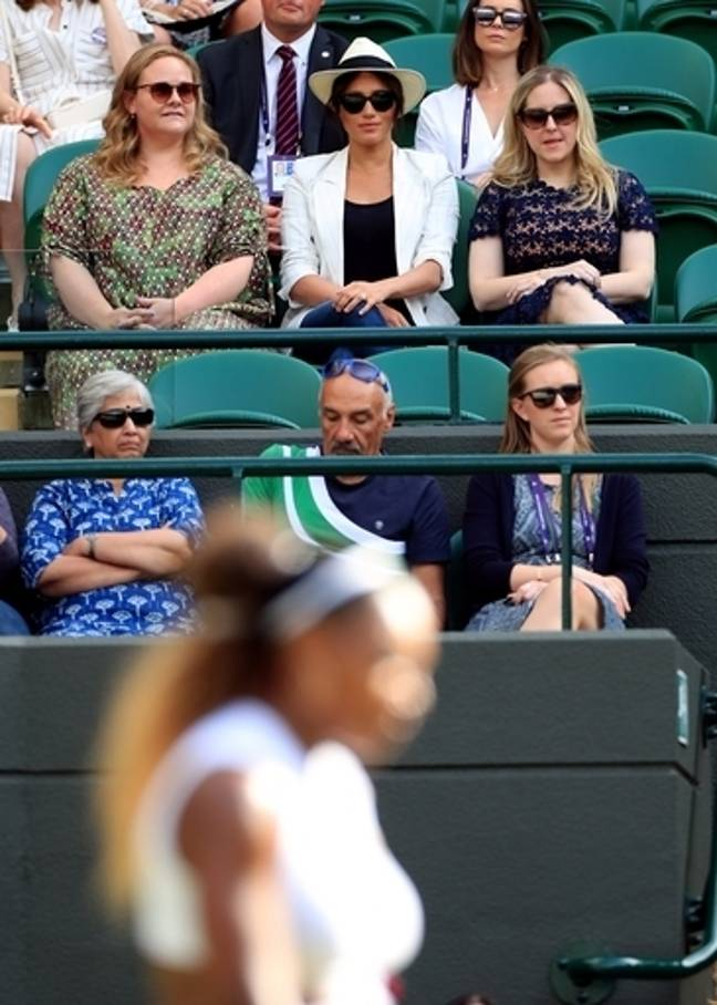 Hasan Hasanov was sitting directly in front of Meghan. Credit: PA