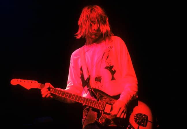 Kurt Cobain in 1991. Credit: PA