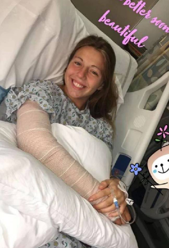 The teen was hospitalised after being shot by her mum. Credit: Facebook