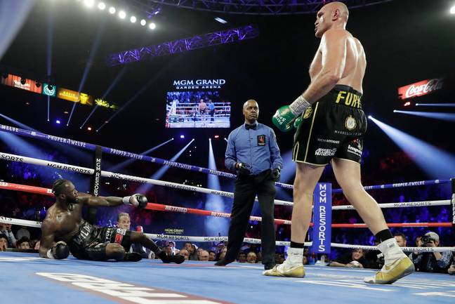 Fury didn't seem too concerned about a rematch with Wilder. Credit: PA