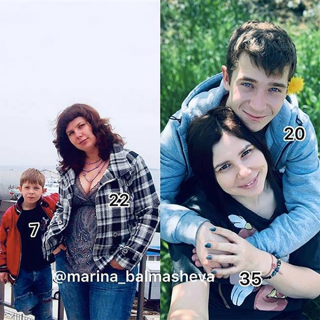 She helped raise Vladimir from the age of seven. Now they have a baby together. Credit: East2West News