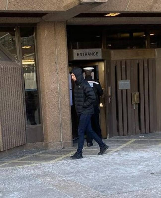 Carr leaving Liverpool Crown Court. Credit: Liverpool Echo