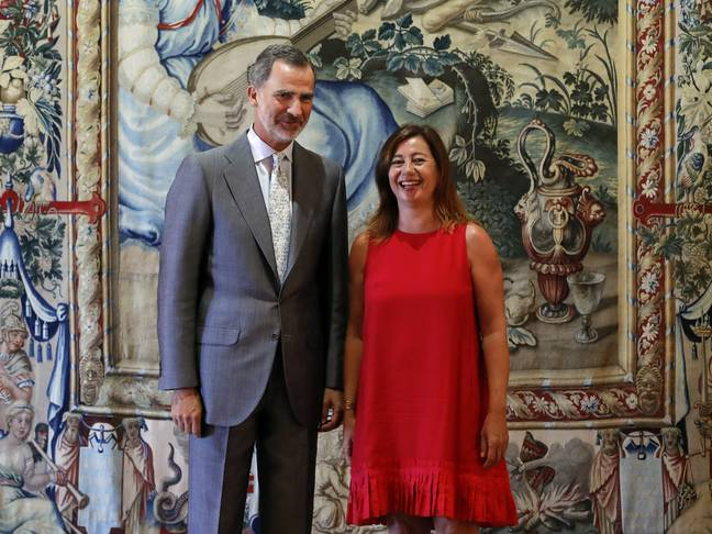 Francina Armengol (pictured here with Spain's King Felipe) has put the measures in place. Credit: Shutterstock