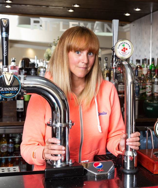 Sarah reopened the pub last month. Credit: SWNS