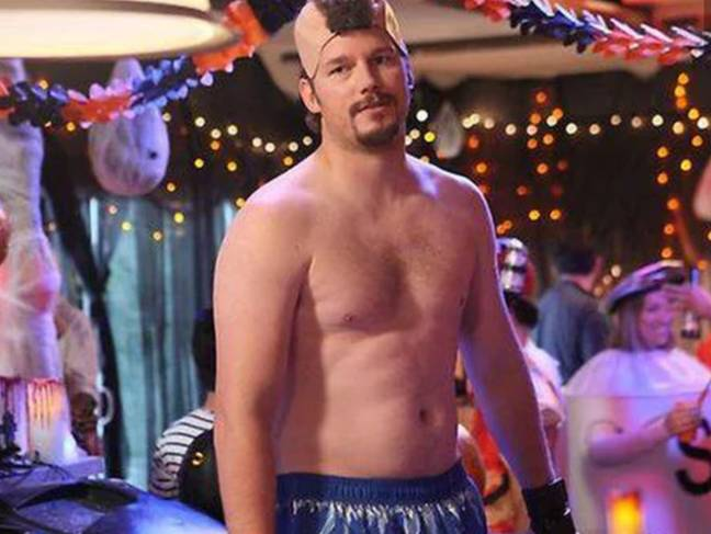 While Chris Pratt has toned up since Parks and Recreation, this is the body that women find sexy. Credit: NBC