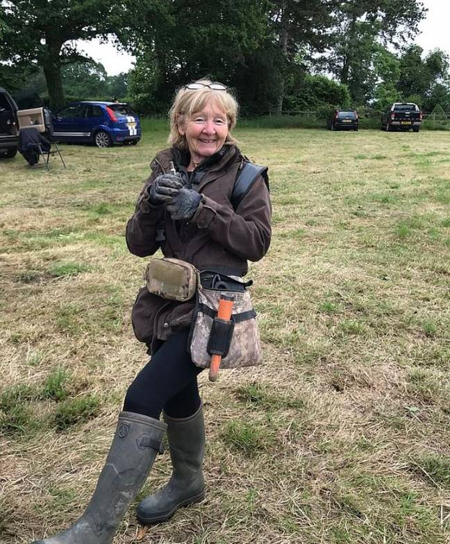 Sue Kilvert wants to keep hold of her 'once in a lifetime' find. Credit: BNPS