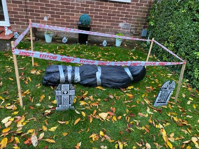 The 'corpse' was a Halloween prop last year. Credit: Triangle News