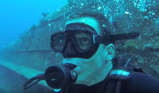 Steve-O scuba diving. Credit: YouTube/Waidroka Bay Surf & Dive Resort